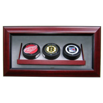 Elite Triple Puck Display Case