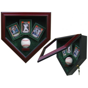 Elite Single Baseball And 3 Baseball Card Display Case