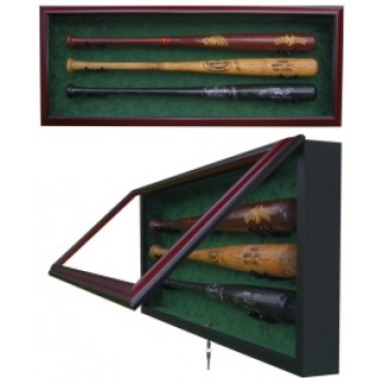 Elite Triple Bat Baseball Display Case
