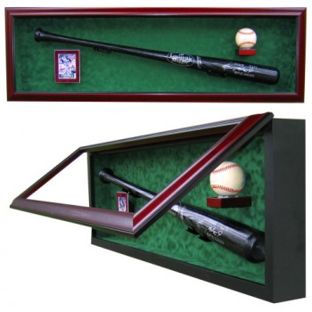 Elite Bat, Baseball and Card Display Case