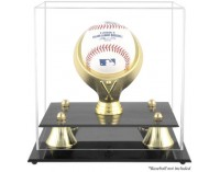 Acrylic Baseball Display Case With Gold Ring