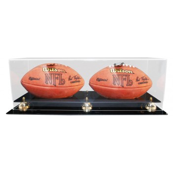 Double Football Display Case