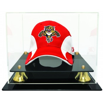 Hockey Cap Display Case With Risers - Acrylic