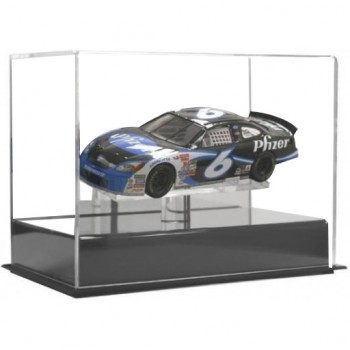 Single Car Display Case With Mirrored Back